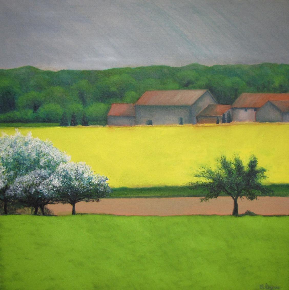 Peinture paysages marc legris campagnes 1 for Paysage peinture
