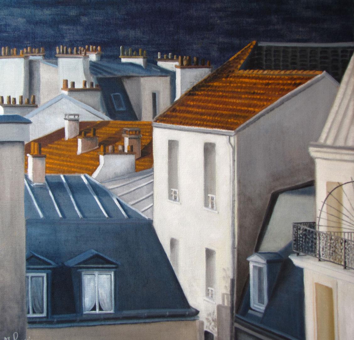 Peinture Paysages - Marc Legris - Cités